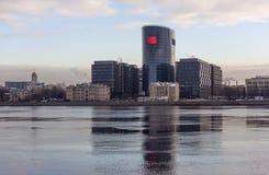 St. PETERSBURG, RUSSLAND - 24. NOVEMBER 2015: Foto des Geschäftszentrums Lizenzfreies Stockbild