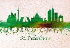 St Petersburg rysk horisont vektor illustrationer
