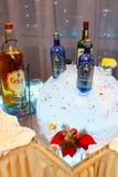 St Petersburg Ryssland - December 16, 2017: Alkohol av olika märken Royaltyfri Foto