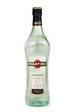 ST PETERSBURG RYSSLAND - DECEMBER 26, 2015: Flaska av Martini Bianco Vermouth, Italien Arkivfoto