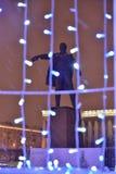 St Petersburg Ryssland - Januari 02, 2017: Monument VI Lenin I Royaltyfri Fotografi