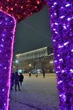 St Petersburg Ryssland - Januari 02, 2017: Sikten av Mosen Arkivbilder