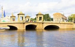 St Petersburg gammala Kalinkin överbryggar Arkivfoton