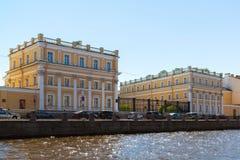St Petersburg Ryssland - Juni 04 2017 Museum-gods Derzhavin Invallning av Fontanka flod, 118 Arkivfoto