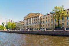 St Petersburg Ryssland - Juni 04 2017 Obukhov sjukhus Militär-läkarundersökning akademi Royaltyfria Foton