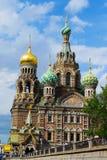 St Petersburg Ryssland - Juni 02, 2016: Templet frälsaren på blodet Royaltyfria Bilder