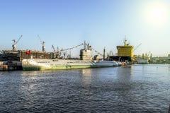 St Petersburg Ryssland 03 kan 2015 sikter av ubåten s-189 Royaltyfria Bilder