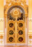 St Petersburg Ryssland - Maj 12, 2017: Inre av den statliga eremitboningvinterslotten i St Petersburg, eremitboning är royaltyfria bilder