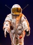 St Petersburg Ryssland - Maj 13, 2017: Rysk astronautspacesuit i St Petersburg utrymmemuseum Royaltyfria Foton