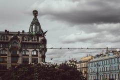 St Petersburg Ryssland, Maj 2019 Sångarehuset, också som är bekant som huset av böcker, på den Nevsky avenyn arkivbilder