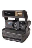 ST PETERSBURG RYSSLAND - Septembe 01, 2015: Film 600 för moment för polaroidkamera en nära upp Royaltyfria Foton