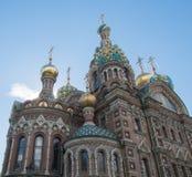 St Petersburg Ryssland September 12, 2016: Kyrkan på spillt blod En av dragningarna av St Petersburg Arkivbilder