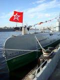 St Petersburg Ryssland - YULY 27: u-fartyg med flaggan av USA Fotografering för Bildbyråer