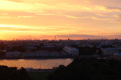 St. Petersburg`s sunset. July`s sunset over St. Petersburg Royalty Free Stock Photography