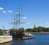 St. Petersburg, sailing ship Stock Photography