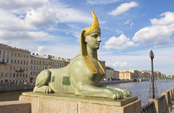 St. Petersburg, sculpture of sphinx Stock Image
