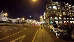 St Petersburg sikt av den Kazan domkyrkan och den Nevsky utsikten lager videofilmer