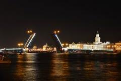 St Petersburg slottbro Royaltyfri Foto