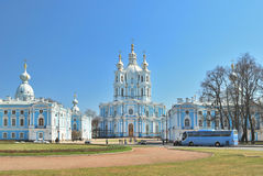 St. Petersburg.  Smolny Cathedral Royalty Free Stock Image