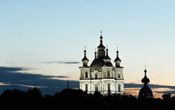 St. Petersburg, Smolny Cathedral in White Nights. St. Petersburg, View of Smolny Cathedral in White Nights Royalty Free Stock Photo