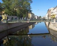 St Petersburg som packar ihop bron Arkivbild