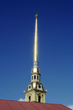St. Petersburg, the spire of the Peter and Paul Cathedral Stock Image