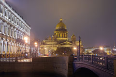 St.Petersburg, St. Isaac's Square Stock Image