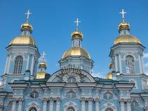 St Petersburg St Nicholas Cathedral Royaltyfria Foton