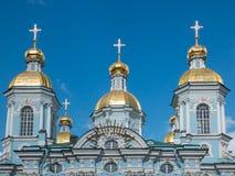 St Petersburg St Nicholas Cathedral Fotografering för Bildbyråer