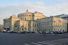 St. Petersburg. The State Academic Mariinsky Theatre shined with Stock Images