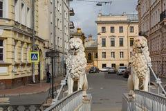St. Petersburg, the statue on Lion's bridge Stock Images
