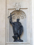 St. Petersburg. Statue of prince Vladimir in a niche of the Kaza Stock Image