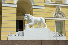 St. Petersburg, stone lion near Russian museum Stock Image