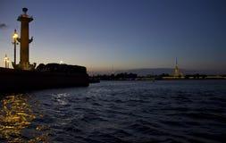 St. Petersburg at sunset Royalty Free Stock Photos