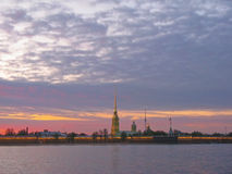 St.Petersburg, sunset Royalty Free Stock Images