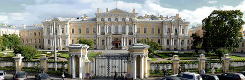 St. Petersburg Suvorov Military School for young men Stock Photos