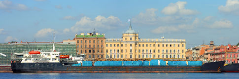 St. Petersburg, timber berth Stock Photos