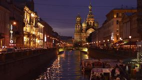 St Petersburg Time Lapse Photography Cathedral On The Spilled Blood stock video footage