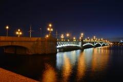 St. Petersburg, Trinity Bridge Royalty Free Stock Images
