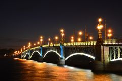 St. Petersburg, Trinity, bridge Stock Images