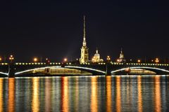 St. Petersburg, Trinity Bridge Royalty Free Stock Photos