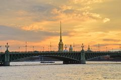 St. Petersburg, Trinity Bridge Stock Image