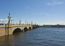 St. Petersburg, Trinity bridge Stock Images