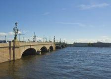 St. Petersburg, Trinity bridge Stock Images