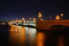 St Petersburg Trinity, bro Arkivbild