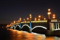 St Petersburg Trinity, bro Arkivbilder