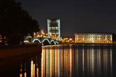 St Petersburg Trinitybro Arkivfoton