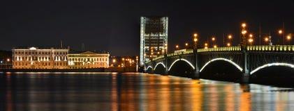 St Petersburg Trinitybro Arkivbilder