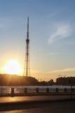 St. Petersburg TV tower at sunset. Royalty Free Stock Photos