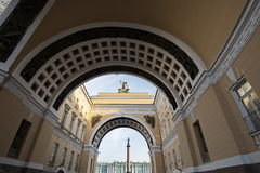 St. Petersburg Under Arches Stock Images